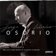 シューベルト:ピアノ・ソナタ第21番、第20番、ブラームス:後期ピアノ作品集 ホルヘ・フェデリコ・オソリオ(2CD)