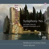 Franz Schmidt Symphony No.2, R.Strauss Festliches Praludium : Stefan Blunier / Bonn Beethoven Orchestra (Hybrid)
