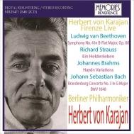 Herbert von Karajan / Berlin Philharmonic : Firenze Live 1967 : Beethoven Symphony No.4, R.Strauss Ein Heldenleben, Brahms, J.S.Bach (2CD)
