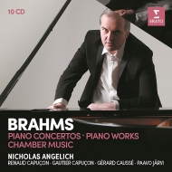 Piano Concertos Nos.1, 2, Chamber Works, Piano Works : Nicholas Angelich(P)Paavo Jarvi / R & G.Capucon etc (10CD)