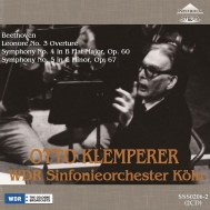Symphonies Nos.4, 5, Leonore No.3 : Otto Klemperer / Cologne Radio Symphony Orchestra (1966 Stereo)(2CD)
