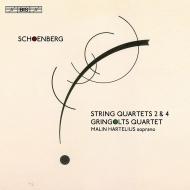弦楽四重奏曲第2番、第4番 グリンゴルツ四重奏団、マリン・ハルテリウス