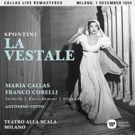 『ヴェスタの巫女』全曲 トゥリオ・セラフィン&スカラ座、マリア・カラス、フランコ・コレッリ、他(1954 モノラル)(2CD)
