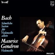 無伴奏チェロ組曲全曲:モーリス・ジャンドロン(チェロ)(BOX仕様/3枚組/180グラム重量盤レコード)