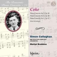 ピアノ協奏曲第3番、第4番、第5番(第2楽章のみ) サイモン・キャラハン(ピアノ)、ブラビンズ&BBCスコティッシュ交響楽団