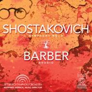 ショスタコーヴィチ:交響曲第5番『革命』、バーバー:弦楽のためのアダージョ ホーネック&ピッツバーグ交響楽団