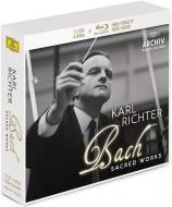マタイ受難曲(1958)、ヨハネ受難曲、ロ短調ミサ(1961)、クリスマス・オラトリオ、他 カール・リヒター&ミュンヘン・バッハ管(11CD+ブルーレイ・オーディオ+4DVD)