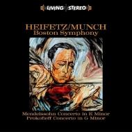 ヴァイオリン協奏曲第2番、他:ヤッシャ・ハイフェッツ(ヴァイオリン)、シャルル・ミュンシュ指揮&ボストン交響楽団 (180グラム重量盤レコード/Blue Moon)