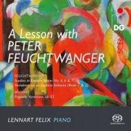 フォイヒトヴァンガー:変奏曲集、ブラームス:パガニーニの主題による変奏曲 レンナルト・フェリクス