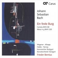 バッハ(1685-1750)/Cantata 80 Mass Bwv 235 : Bernius / Stuttgart Baroque O Kammerchor Etc