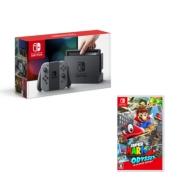 Nintendo Switch Joy-Con(L)/(R)グレー(本体+マリオオデッセイ セット)