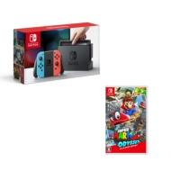 Nintendo Switch Joy-Con(L)ネオンブルー/(R)ネオンレッド(本体+マリオオデッセイ セット)