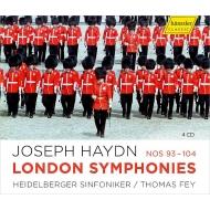 ロンドン交響曲集(第93〜104番) トーマス・ファイ指揮(第101番『時計』のみベンジャミン・シュピルナー)、ハイデルベルク交響楽団(4CD)