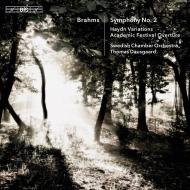 Symphony No.2, Haydn Variations, Academic Festival Overture, etc : Thomas Dausgaard / Swedish Chamber Orchestra (Hybrid)