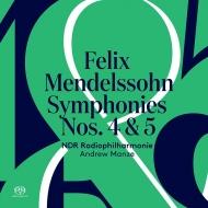 交響曲第4番『イタリア』、第5番『宗教改革』 アンドルー・マンゼ&北ドイツ放送フィル