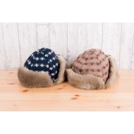 フライトキャップ(耳当て付き帽子) / ブラウン