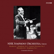 ベートーヴェン:交響曲第5番『運命』『レオノーレ』序曲第3番、ショスタコーヴィチ:交響曲第1番 コンスタンティン・シルヴェストリ&NHK交響楽団(1964)