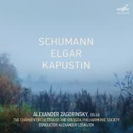 シューマン:チェロ協奏曲、カプースチン:チェロ協奏曲第2番、他 アレクサンドル・ザゴリンスキー、ロスクトフ&ヴォログダ・フィルハーモニー協会室内管弦楽団