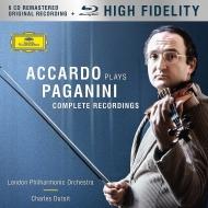 ヴァイオリン協奏曲全集、24のカプリース、ヴァイオリン作品集 サルヴァトーレ・アッカルド、シャルル・デュトワ&ロンドン・フィル(6CD+ブルーレイ・オーディオ)