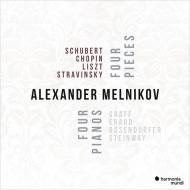 Alexander Melnikov : Four Pieces Four Pianos -Schubert, Chopin, Liszt, Stravinsky