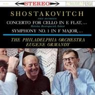 チェロ協奏曲第1番、交響曲第1番:ロストロポーヴィチ(チェロ)、ユージン・オーマンディ指揮&フィラデルフィア管弦楽団 (180グラム重量盤レコード/Speakers Corner)