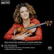 コルンゴルト:ヴァイオリン協奏曲、バーンスタイン:セレナード リザ・フェルシュトマン、マラート&プラハ交響楽団、ヴァスケス&アーネム・フィル