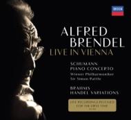シューマン:ピアノ協奏曲、ブラームス:ヘンデルの主題による変奏曲とフーガ アルフレート・ブレンデル、サイモン・ラトル&ウィーン・フィル(2001、1979)