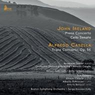 アイアランド:ピアノ協奏曲、カゼッラ:三重協奏曲、他 アンナローザ・タッデイ、トリオ・イタリアーノ、クーセヴィツキー&ボストン響