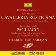 マスカーニ:カヴァレリア・ルスティカーナ、レオンカヴァッロ:道化師 カラヤン&スカラ座、コッソット、ベルゴンツィ、他(1965 ステレオ)(2CD+BDA)