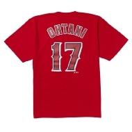 大谷翔平 ネーム&ナンバー Tシャツ RED XLサイズ 半袖