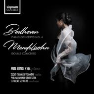 ベートーヴェン:ピアノ協奏曲第4番、メンデルスゾーン:二重協奏曲 ミンジョン・キム、クレメンス・シュルト&フィルハーモニア管弦楽団、ヴィゾンタイ