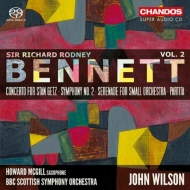 交響曲第2番、スタン・ゲッツ協奏曲、セレナード、パルティータ ジョン・ウィルソン&BBCスコティッシュ交響楽団、ハワード・マッギル