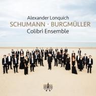ノルベルト・ブルクミュラー:交響曲第2番、シューマン:ピアノ協奏曲 アレクサンダー・ロンクィッヒ、コリブリ・アンサンブル