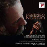 マリピエロ:ヴァイオリン協奏曲第1番、第2番、ブゾーニ:ヴァイオリン協奏曲 ドメニコ・ノルディオ、チェッケリーニ&ミラノ・ジュゼッペ・ヴェルディ交響楽団