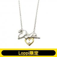 シルバーオープンハートネックレス【Loppi限定】