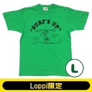 SNOOPY Tシャツ ブライトグリーン(L)【Loppi限定】