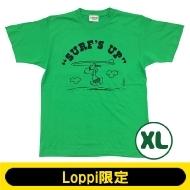 SNOOPY Tシャツ ブライトグリーン(XL)【Loppi限定】