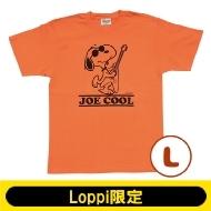 SNOOPY Tシャツ コーラルオレンジ(L)【Loppi限定】