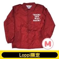 SNOOPY コーチジャケット バーガンディー(M)【Loppi限定】
