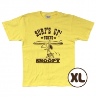 SNOOPY Tシャツ イエロー(XL) PEANUTS SURF'S UP TOKYO 原宿BUDDY