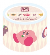 星のカービィ ふわふ和コレクション マスキングテープ 1 カービィともぐもぐ和菓子