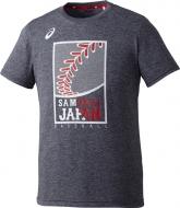 ロゴグラフィックTシャツ グレー杢 XOサイズ 侍JAPAN オフィシャルグッズ