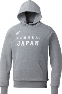 スウェットパーカー グレー杢 Oサイズ 侍JAPAN オフィシャルグッズ