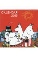 ムーミン壁掛けカレンダー オレンジ 学研カレンダー2019