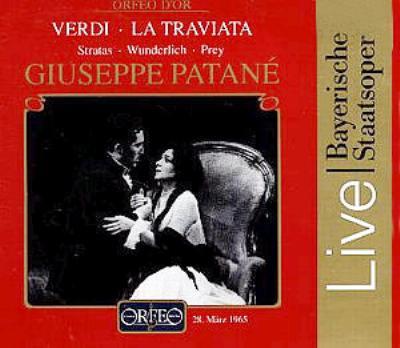 歌劇『椿姫』全曲 ヴンダーリヒ、 ストラータス、プライ、パターネ(1965)