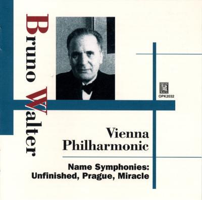 シューベルト:『未完成』、モーツァルト:『プラハ』、ハイドン:『奇蹟』、他 ワルター&ウィーン・フィル