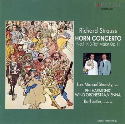 Horn Concerto.1: Stransky(Hr)Jeitler / Philharmonic Wind O +brass Music