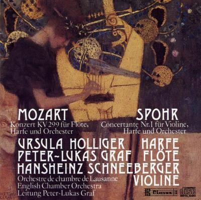 Concerto For Flute & Harp / Concertante.1: Holliger(Hp)/ Graf /
