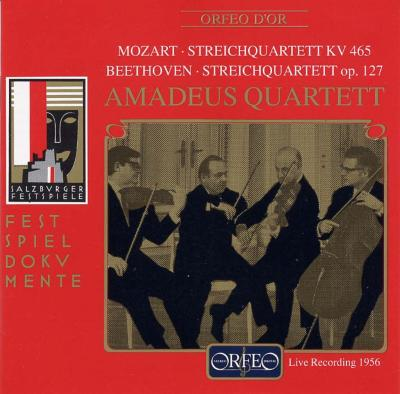 String Quartet.19 / .12: Amadeus.q Salzburg 1956