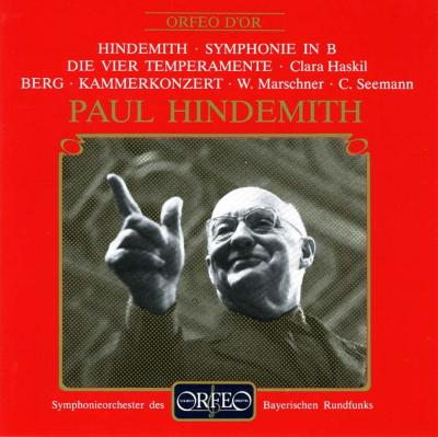 Sym.for Wind, Four Temperaments: Hindemith / Bavarian.rso, Haskil(P)+berg